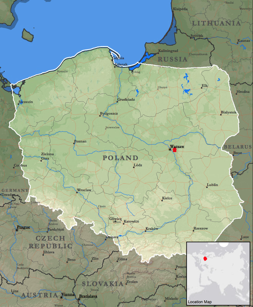 Poland Warsaw Mission Map