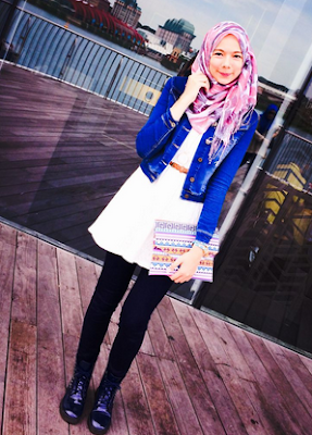 Inspirasi Muslimah OOTD with Denim