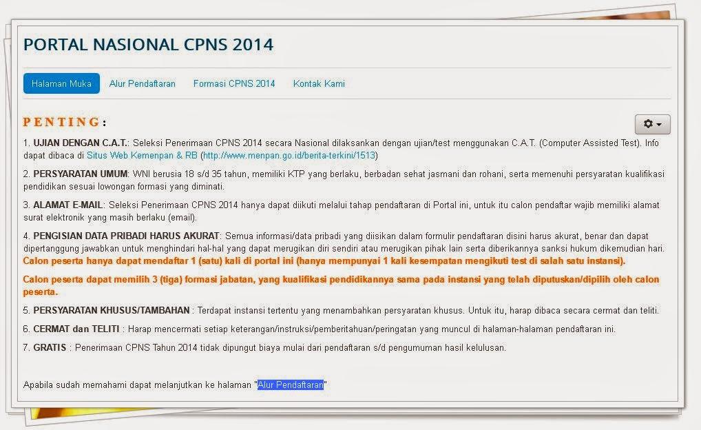 Image Result For Pendaftaran Cpns