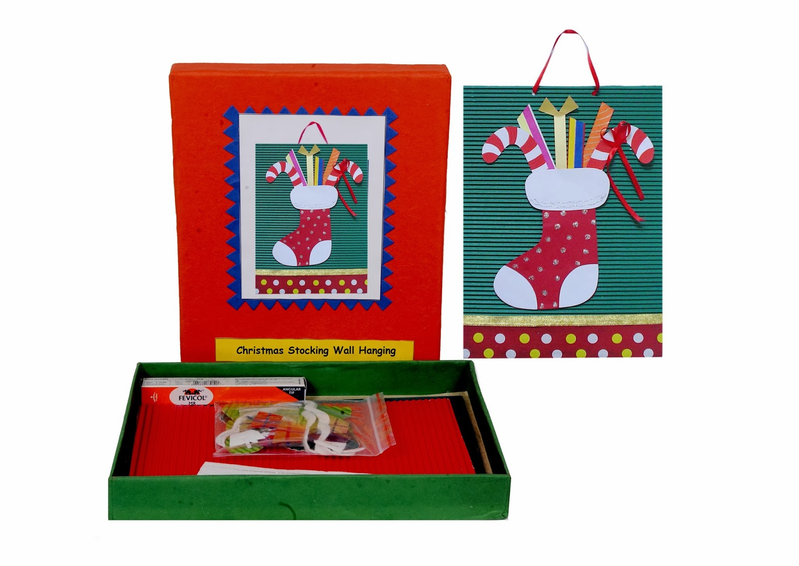Fantastic do it yourself craft kits by the jaipur craft kit wall wall hangings christmas stocking wall hanging solutioingenieria Choice Image