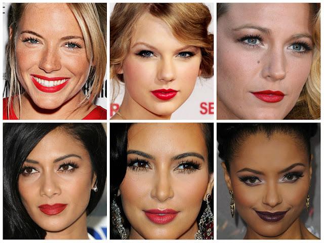 red lips, batom vermelho, makeup, maquilhagem