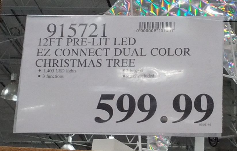 deal for a 12 ft pre lit dual color led christmas tree at costco - 12 Ft Artificial Christmas Trees