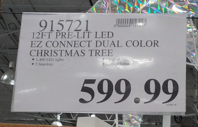 Deal for a 12 ft Pre-Lit Dual Color LED Christmas Tree at Costco