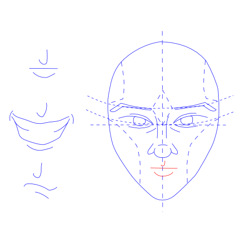 Man's Face -- Draw Mouth