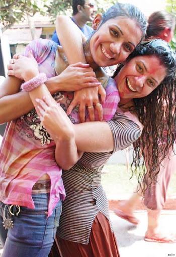 Holi celebration Hot TV actress