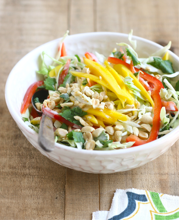 Mango Slaw with Creamy Coconut-Lime Dressing by SeasonWithSpice.com