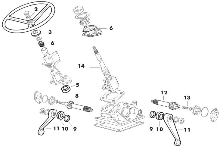 2600 ford tractor power steering parts