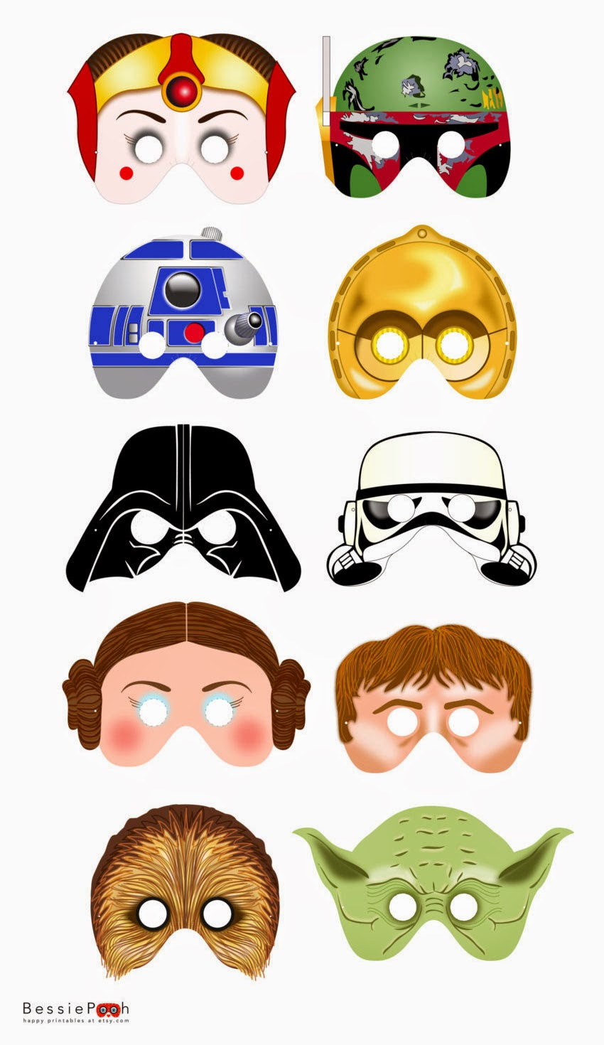 image regarding Star Wars Printable Masks referred to as Star Wars Free of charge Printable Masks. - Oh My Fiesta! within just english