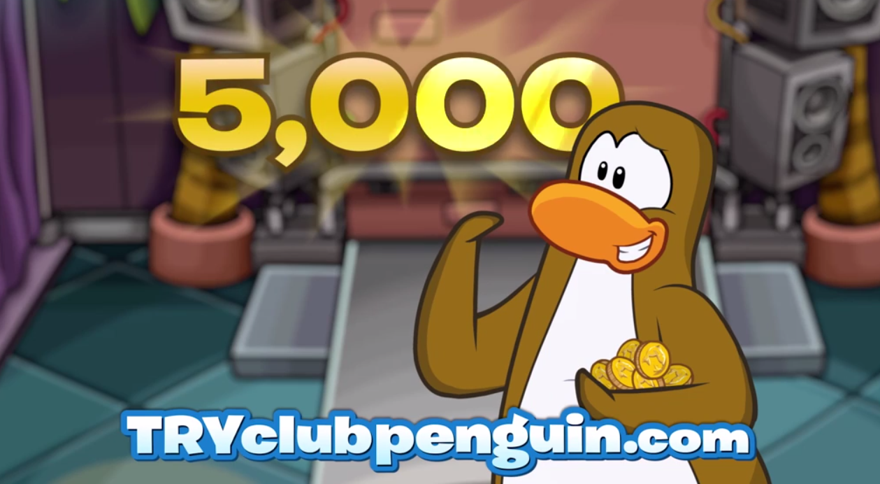 Free Club Penguin 30-Day Membership 5,000 coins