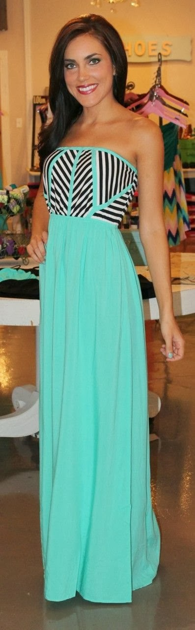 Mint Tribal Maxi Dress