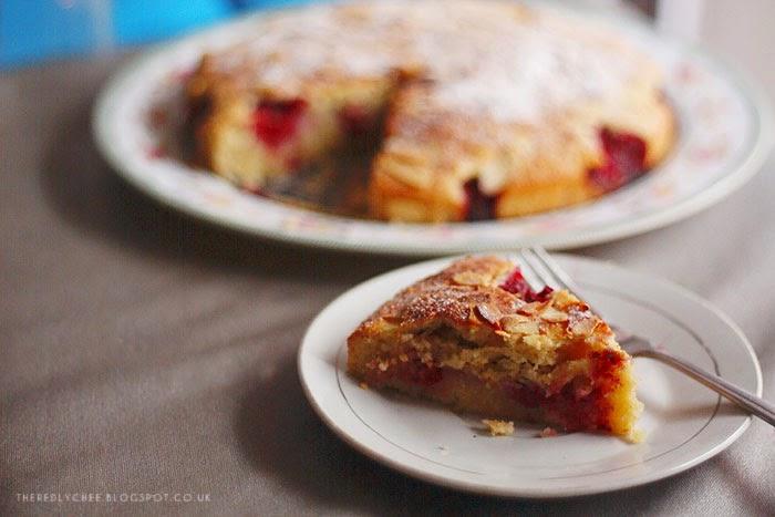 Raspberry Almond Bakewell Cake