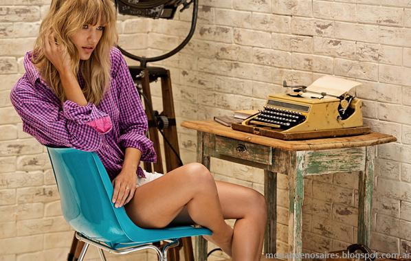 Tannery verano 2014 moda mujer camisas.