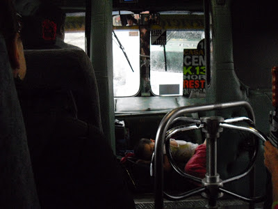 The Colectivo VIP treatment - we were privileged to be invited to sit next to the driver