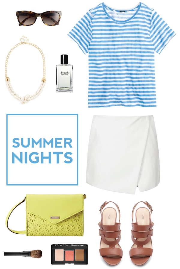 an outfit perfect for summer nights.