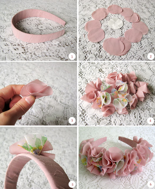 Сделать ободки с цветами своими руками