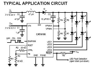 circuit       diagram     6W Four Channel    LED       Driver