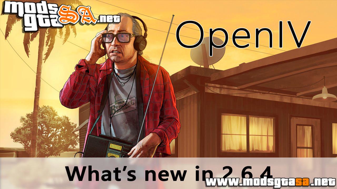 V - OpenIV 2.6.4 para GTA V PC