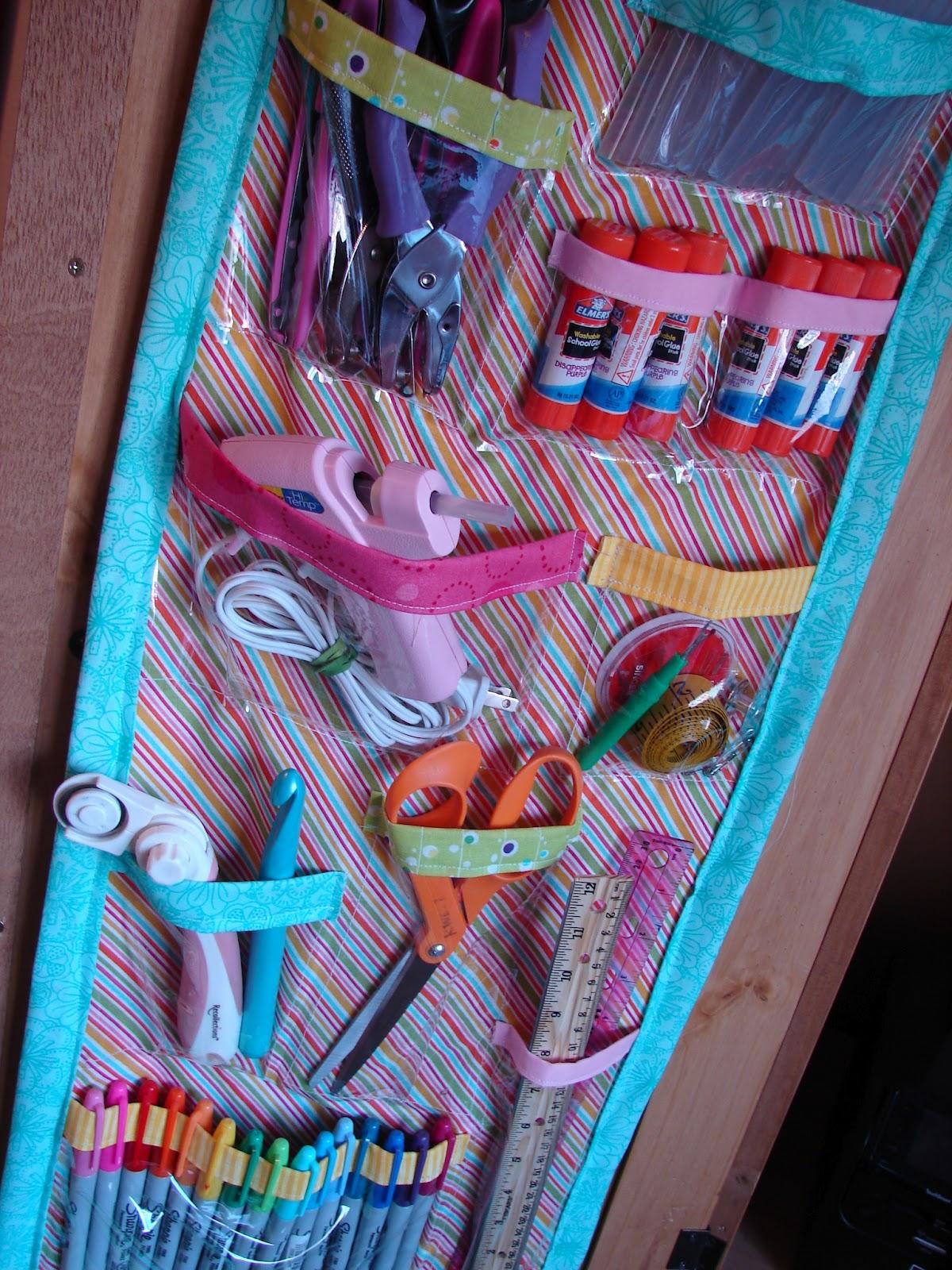 craft organizer - A girl and a glue gun