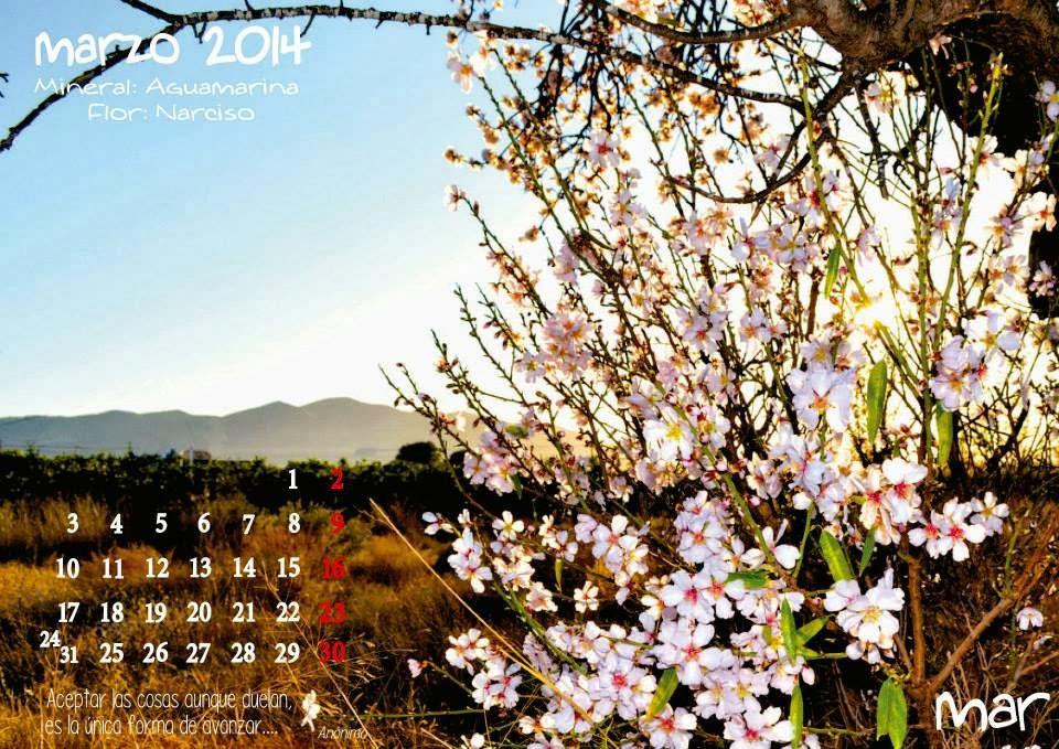 calendario Marzo nueve
