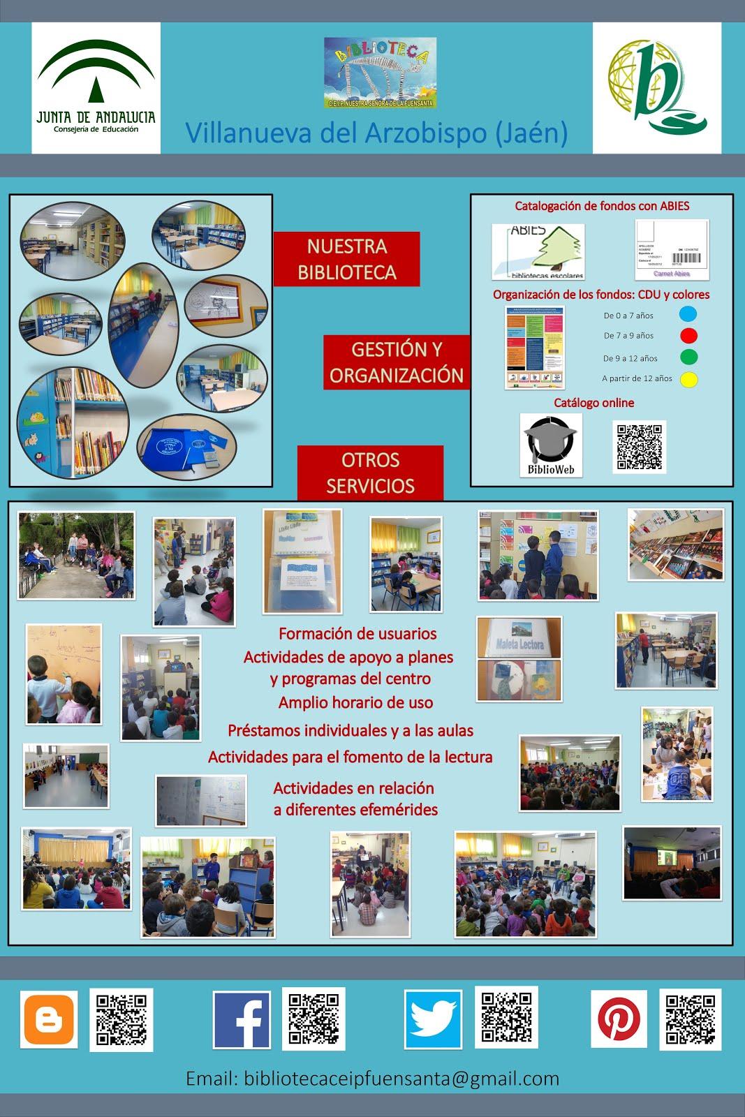 Cartel para la I Campaña de Visibilidad de las Bibliotecas Escolares de la provincia de Jaén