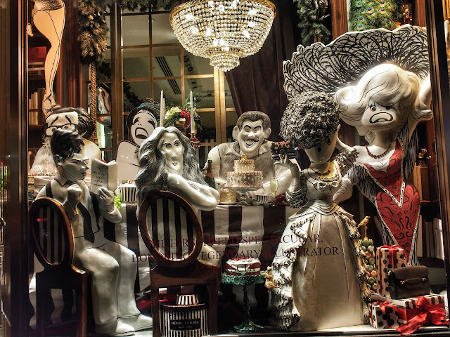Best Dinner Party Guest List - Ever! Al Hirschfeld #5thavenuewindows #henribendel NYC 2013