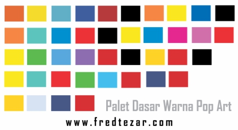 warna pop art palet warna