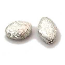 Attractive Sterling silver brushed beads