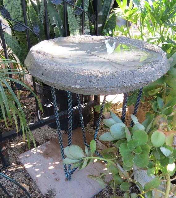 Timeless Treasures Diy Concrete Elephant Ear Bird Bath