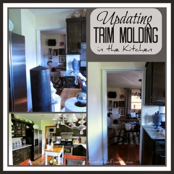 Updating Wood Trim Molding around the Entry into the Dining Room