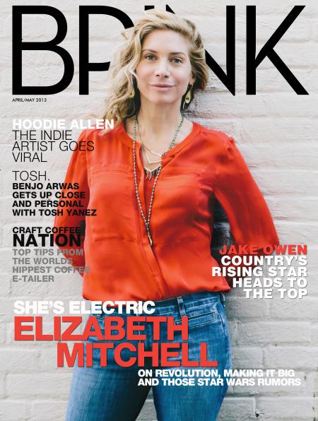BRINK Magazine Cover - Elizabeth Mitchell