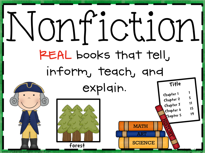 Fiction And Nonfiction Poster Freebie on Life Cycle Of A Frog For Kids Worksheet