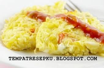 Resep omlet mie