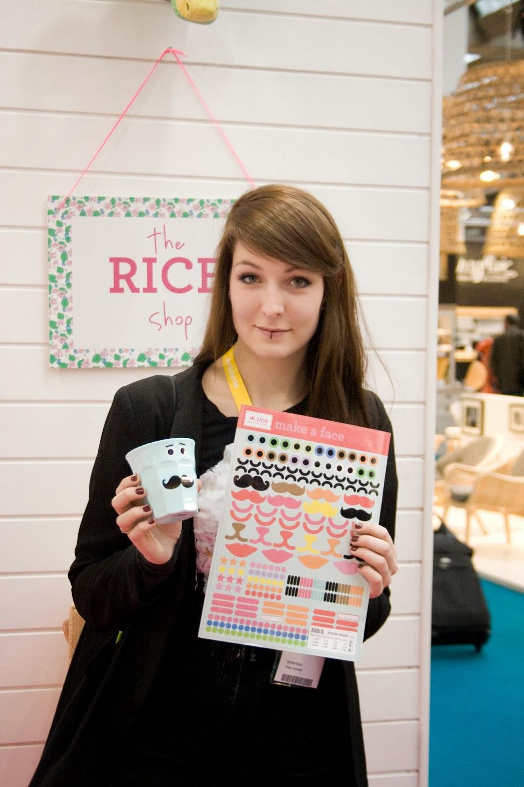 Make a Face Rice Sticker