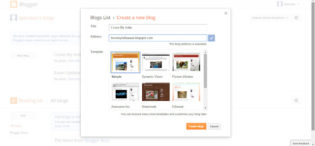 How To Make a Blog on Blogspot tips in hindi