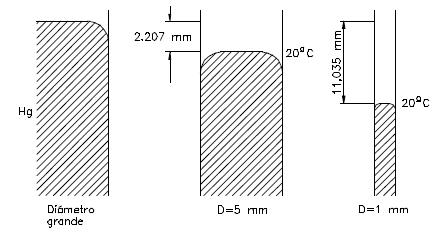 Ejercicio resuelto de fluidos fuerzas de adhesion dibujo 4 problema 1