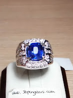 3,40ct NATURAL ROYAL BLUE SAPPHIRE GD MURMer!