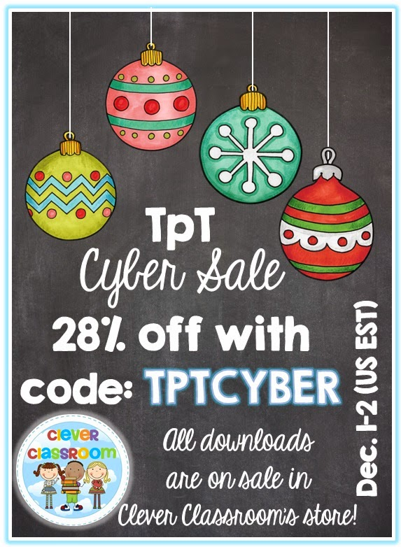 CYBER Sale and Four $25 TpT Gift Vouchers