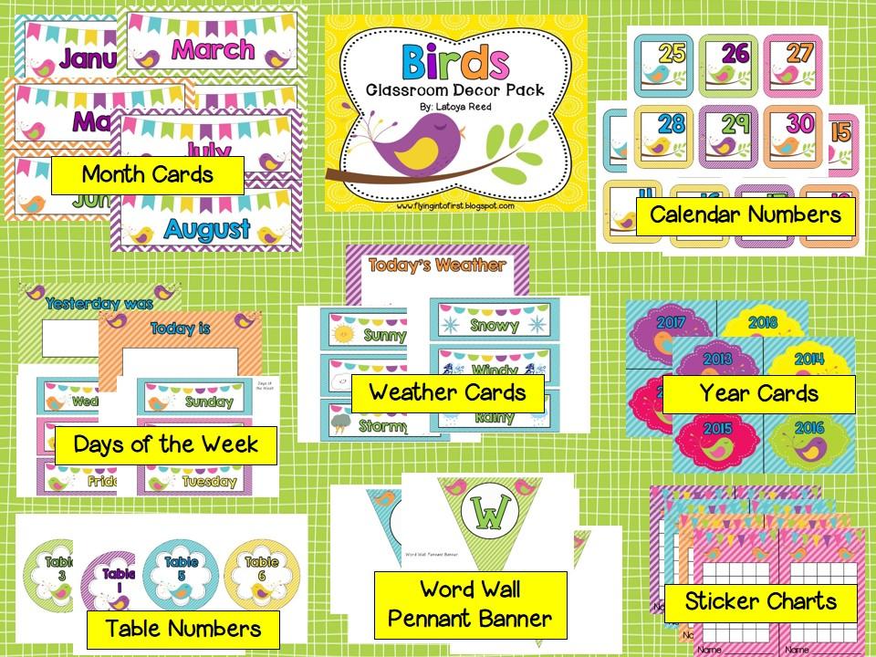 Classroom Decor Birds ~ Birds themed classroom decor dollar tree and diaper cake