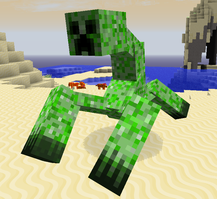 Free coloring p... Minecraft Real Life Mutant Creeper