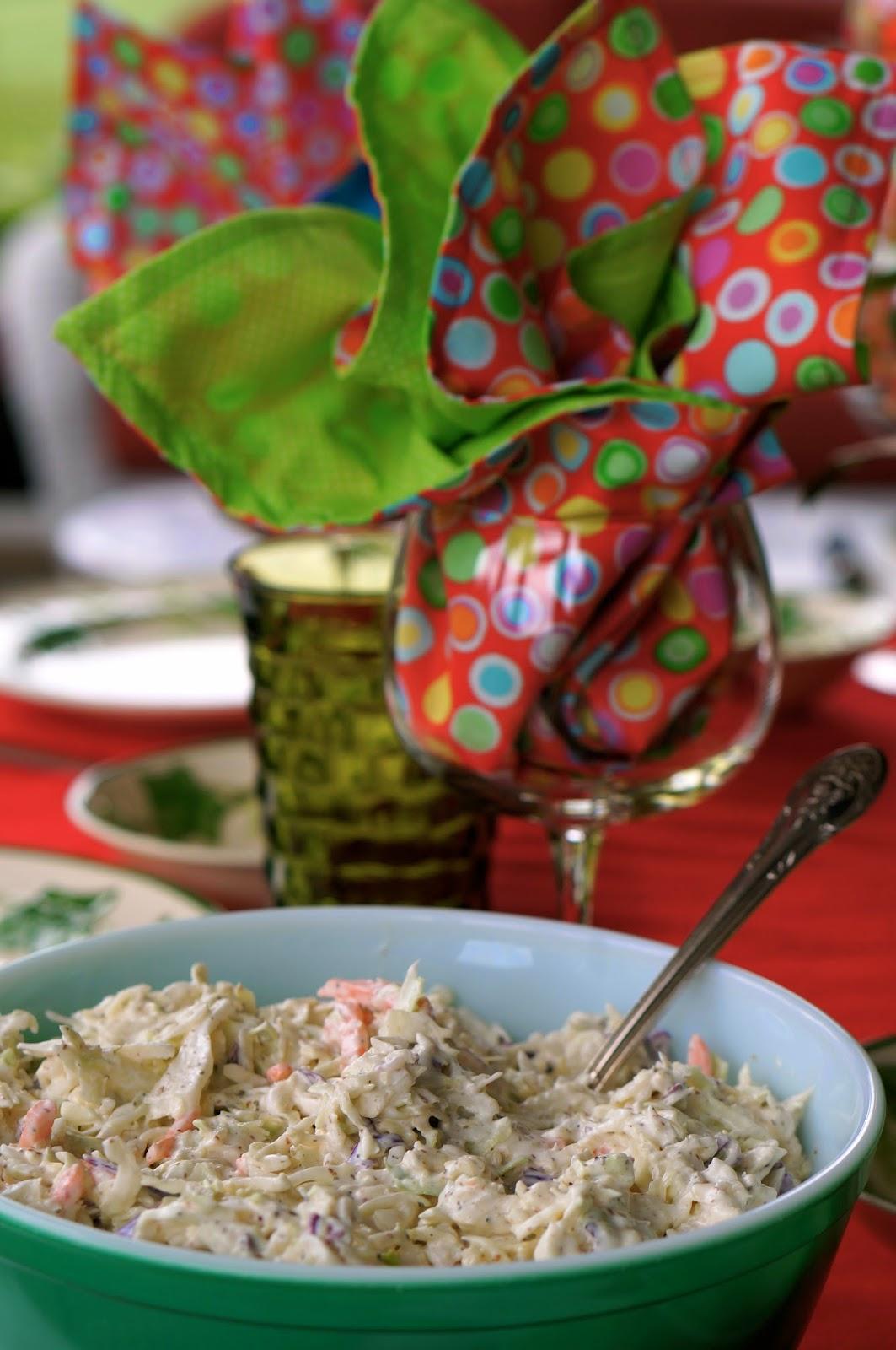 vegetable coleslaw, hellmann's mayonnaise, dijon mustard, sugar, dider vinegar, celery seeds, celery salt, kasher salt, pepper