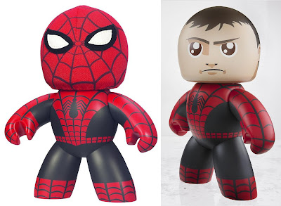 San Diego Comic-Con 2011 Exclusive Spider-Man with Removable Cloth Mask Mighty Muggs &amp; Packaging