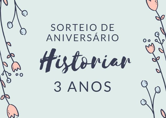 [Sorteio] Aniversário Historiar