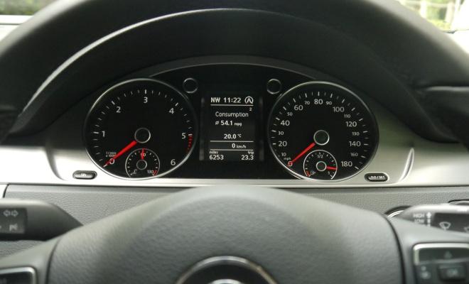 Volkswagen 2012 CC GT instrument cluster