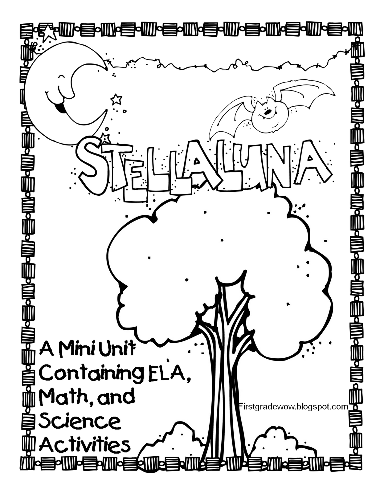 worksheet Stellaluna Worksheets first grade wow stellaluna saves the day and week s blends in word work observing things night sky science i think covered everything then some this unit