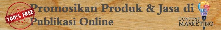 Promosi Produk dan Jasa di Publikasi Online