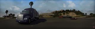 American truck simulator P579_dual-screen