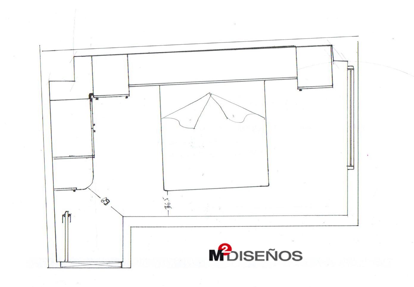 Dormitorio matrimonio puente de 10 12 m m dise os for Hacer plano habitacion