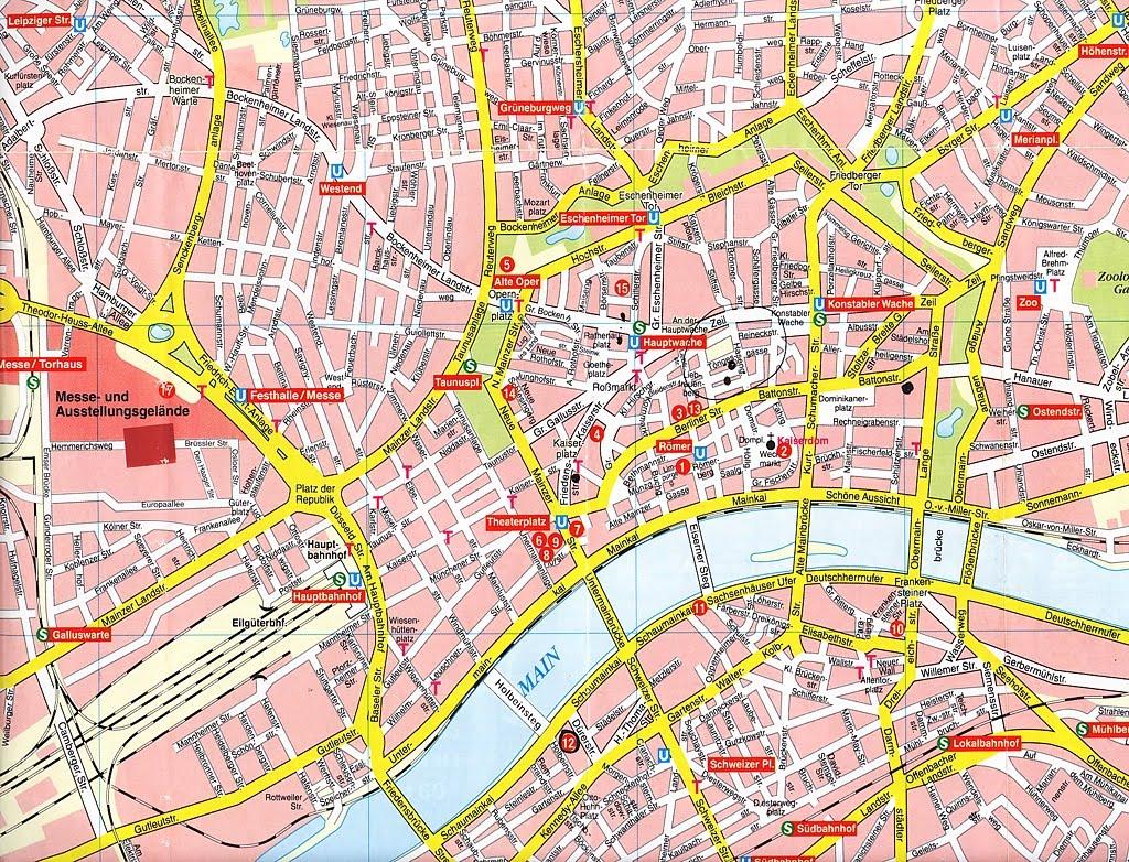 Mapas De Frankfurt  Alemanha  MapasBlog