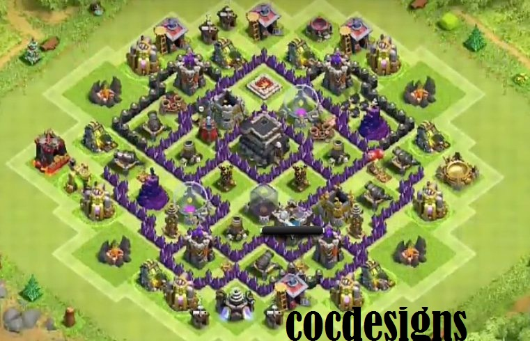 Town Hall 7 Home Base Design Part - 38: Town Hall 7 Farming Layout: Loot Protective Image 1