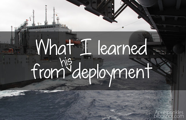 What I learned from his Deployment: April Sprinkles